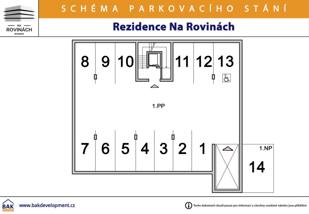 Schema parkovaciho stani